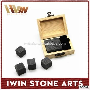 wooden box whiskey stone