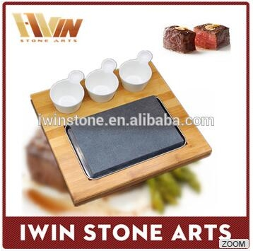 Hot cooking stones for steak