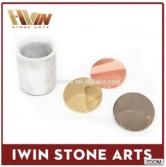 stone jar with copper lids